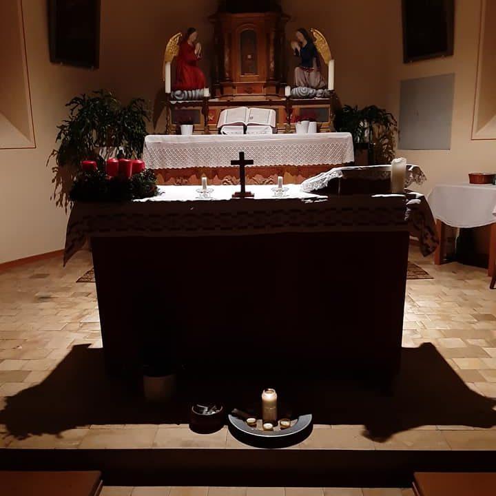 In unserer Kapelle brennt wieder das Friedenslicht aus Bethlehem! 🌟🕯🌟